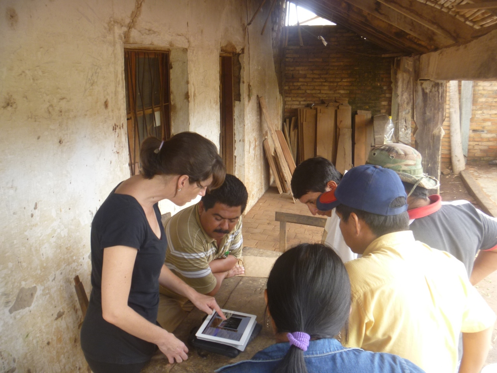 Showing the 2012 collection to our artisans