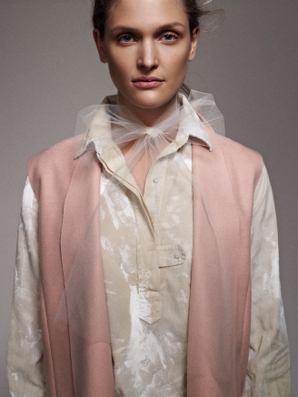Dustin,camisola masculina pintada a mano y chaleco nude
