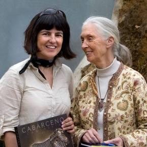 Marina Cano con Jane Godall