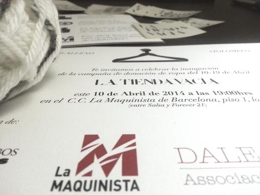 Invitaciones La Tienda Vacía Abril 2014