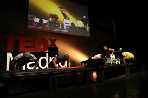 Barbarrio en el evento del 28 de septiembre de 2013 de TEDxMadrid