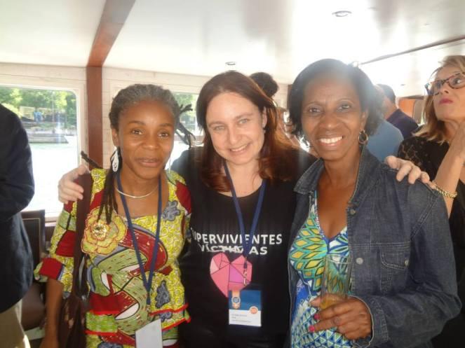 Ana Bella con las representantes de Ashoka Africa, Coumba Toure y Aminata de Burkina