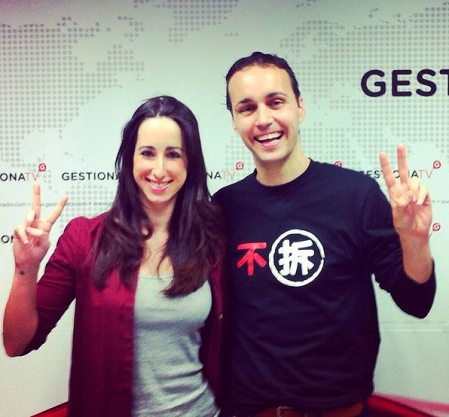 Esther Molina junto a Anxo Pérez de 8Belts