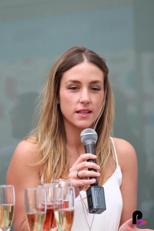 Ariadna Castellanos en la presentación del Festival Clazz de Latin Jazz