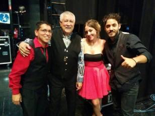Con Paquito D'Rivera, Pepe Rivero y Ané Carrasco en el Clazz