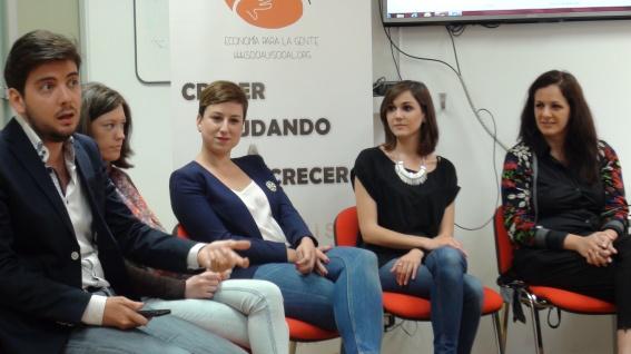 Morena Morante en el evento La Blogosfera, espacio de ideas