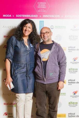 Enrique Quintanilla junto a Gema Gómez de Slow Fashion Spain