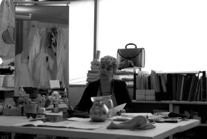 Carmen Rion en su taller
