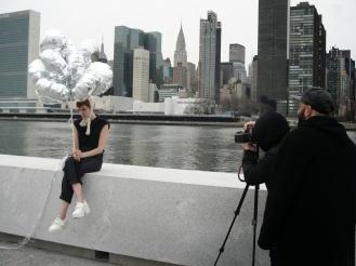 Backstage editorial en Nueva York