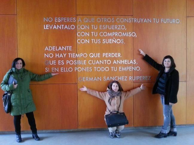 En el III Congreso buenas Prácticas con TIC en Peñaranda de Bracamonte. Con las profes de música Mabel, Nuria y Marina (haciendo la foto)