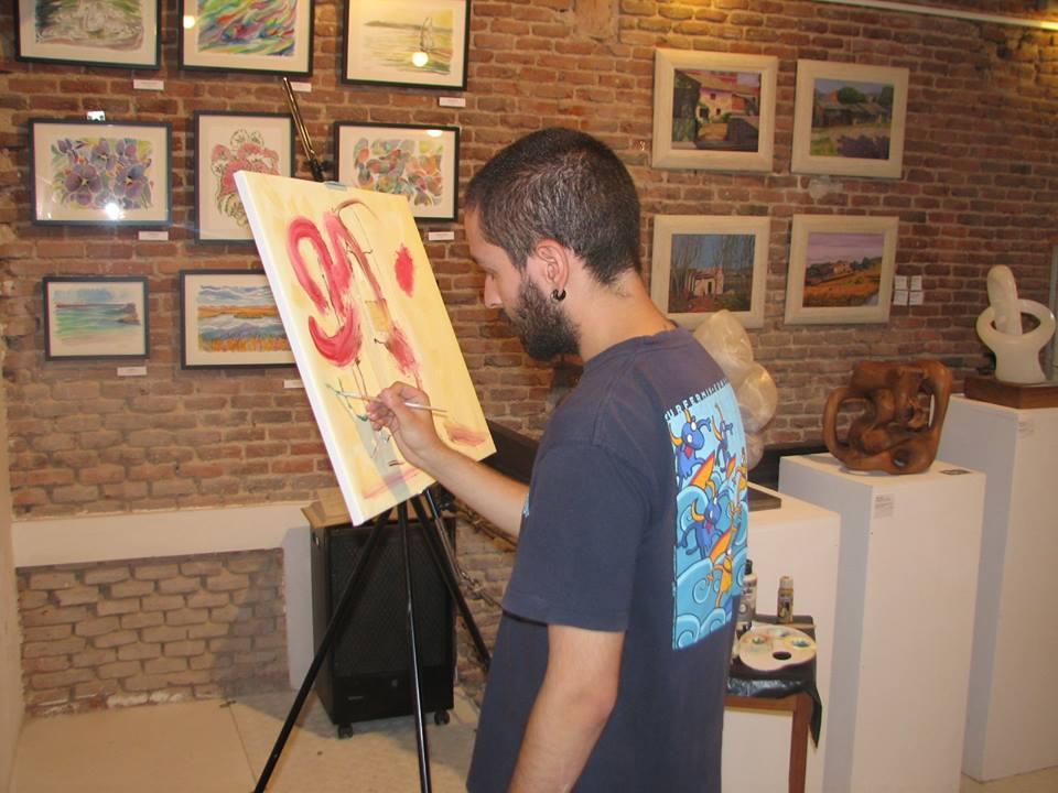 Taller de pintura en directo de Enrique Yáñez
