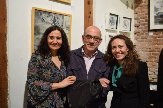 Carmen Higueras, Elena Rey y el pintor Jorge Andrés Segovia