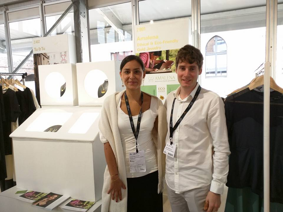 Ander Aldekoa con Johanna Mejías, creadora de Amalena