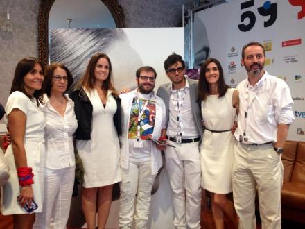 Con Candela Figueira, Nacho Ruipérez y Maitena Muruzabal en Semana Internacional de Cine de Valladolid - Seminci.