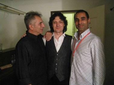 Paco Carvajal con Luis Casal y Cañizares