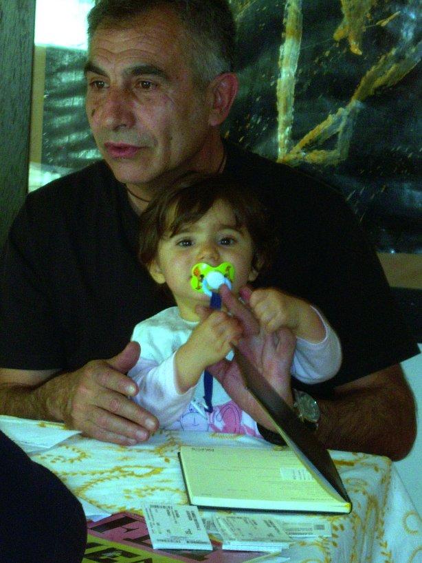 Con su hija Francisca