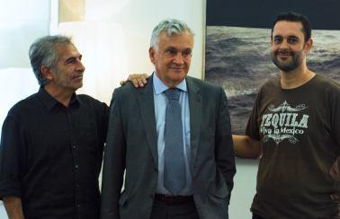 Con el Ministro de Cultura de Portugal, Juca Ferreira y Marco Monteiro