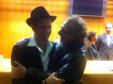 Con Santiago Auserón