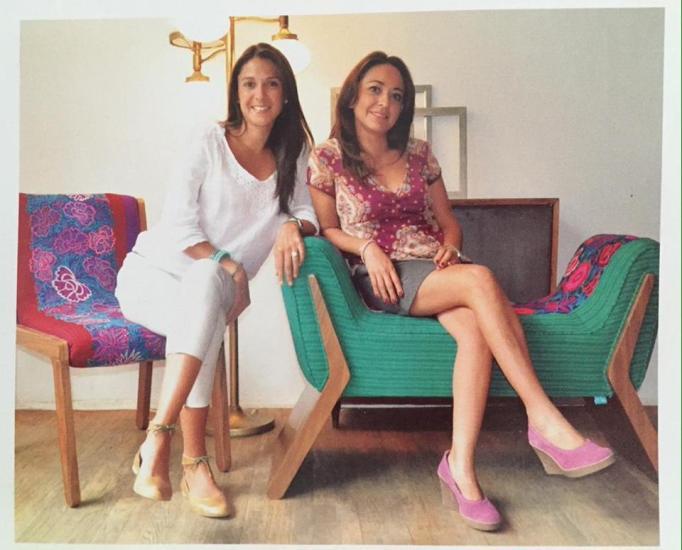 Las diseñadoras Maritza Hernanez y Karla Lemus , México